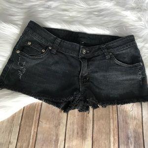 LF CARMAR Black Denim Distressed Cutoff Shorts!